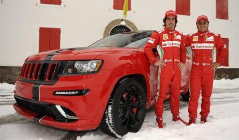 El Jeep Grand Cherokee SRT8 de Alonso y Massa
