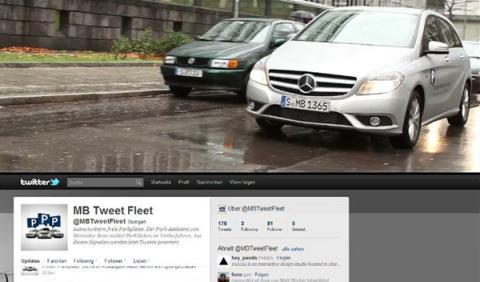 Un Mercedes que tuitea huecos de aparcamiento libres