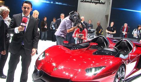 El nuevo Aventador J, desde el Salón de Ginebra 2012