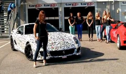 Siete modelos presentan el 599 GTO de la Gumball 3000