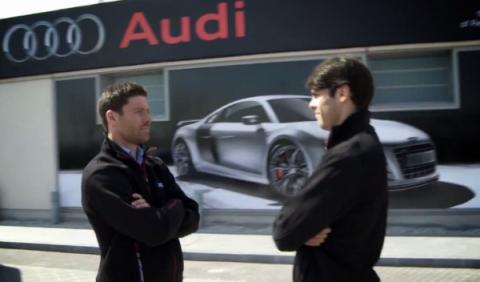 Kaká y Xabi Alonso se enfrentan con el Audi Q5 hybrid