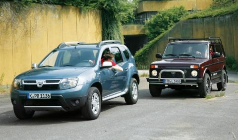 Dacia Duster y Lada Niva frente a frente
