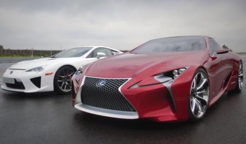 El Lexus LF-LC y el LFA posan juntos