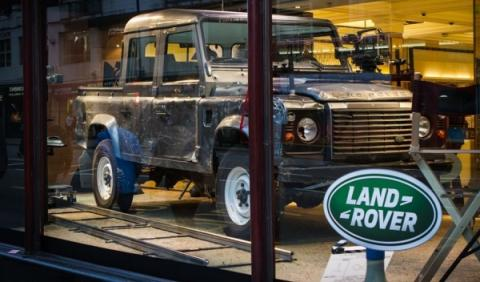 Land Rover Defender en Harrods