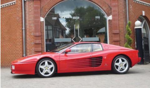 A subasta el antiguo Ferrari 512 TR de Elton John
