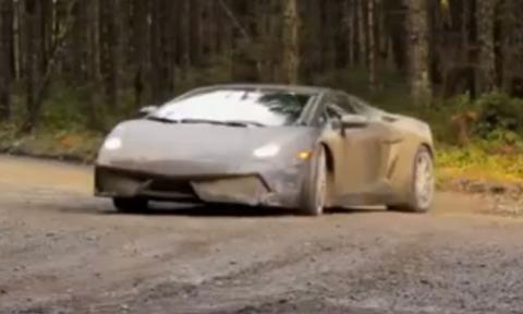 Un Lamborghini Gallardo de rallys: pura adrenalina