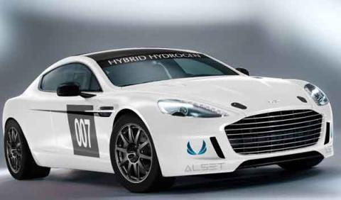 El Aston Martin Hybrid Hydrogen Rapide S, en Nürburgring