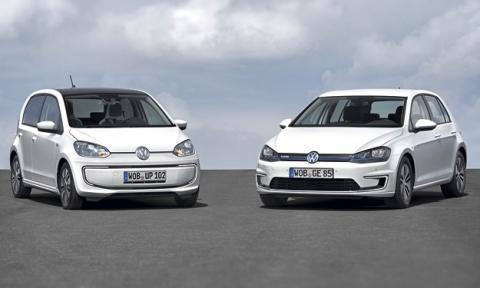 Volkswagen e-Golf y e-up! delantera