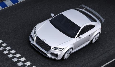 Audi TT quattro Sport Concept 2014 Ginebra aérea