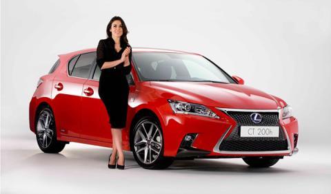Adriana Ugarte, embajadora del Lexus CT 200h Híbrido