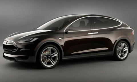 Tesla model x lateral