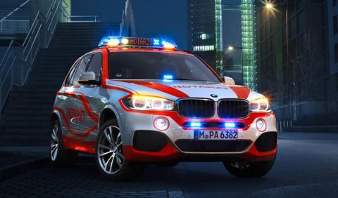 BMW preparado para médicos de emergencia