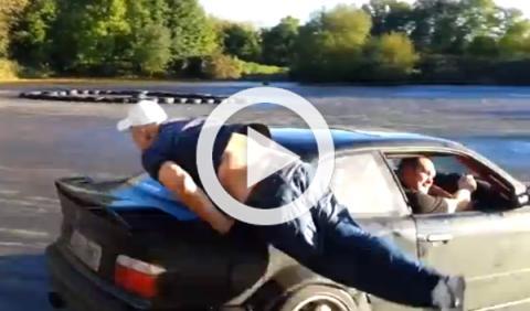 Atropellado por un BMW M3 que hacía drifting