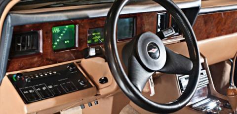 Interior del Aaton Martin Lagonda