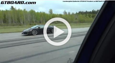 Un Golf humilla a un Lamborghini Gallardo