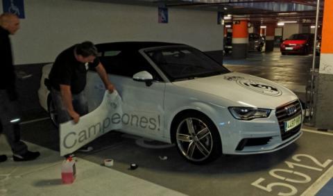 Audi preparada en A3 Cabrio para el Real Madrid
