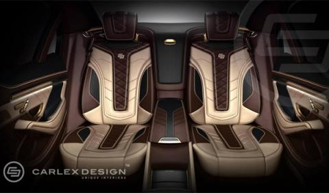 Mercedes Clase S con oro de 24K