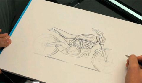 Ducati Scrambler 2015 boceto