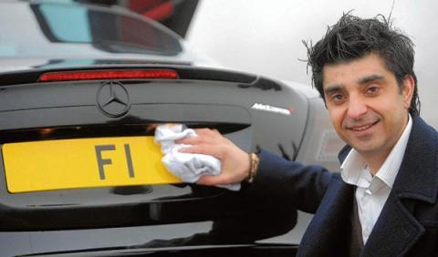 A la venta la matrícula F1 por 12,5 millones de euros