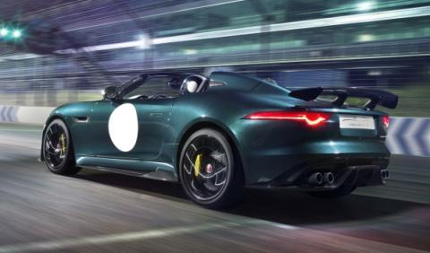 Trasera del Jaguar F-Type Project 7
