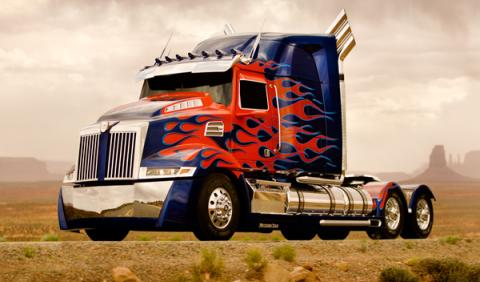 Transformers 4 optimus prime western star