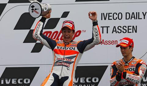 marquez podio motogp gp holanda 2014