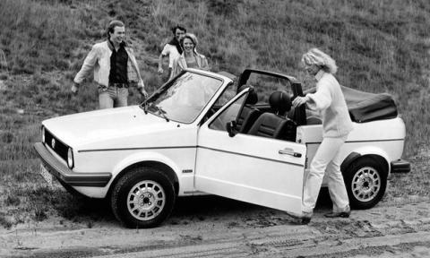 volkswagen golf cabrio 1980 lateral
