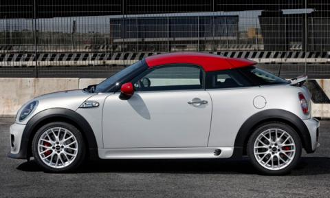 mini coupe john cooper works lateral