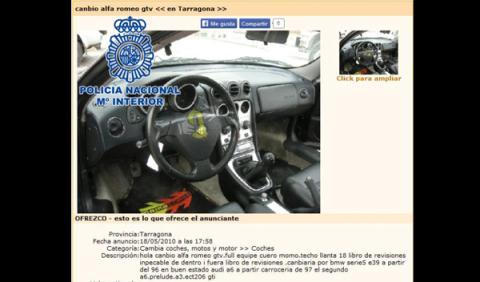 Estafa 100.000 euros con la falsa venta piezas por Internet