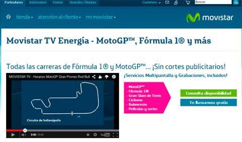 ver MotoGP online movistar TV Energía