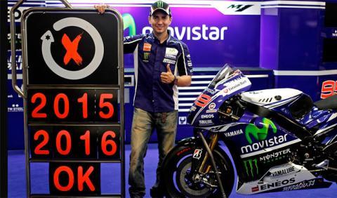 Jorge Lorenzo renueva con Yamaha por dos años más