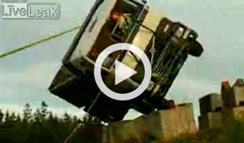 Los 'crash test' de los camiones