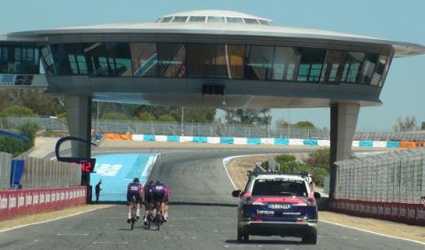 Equipo Lampre en Circuito Jerez