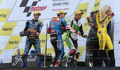 podio moto3 Silverstone