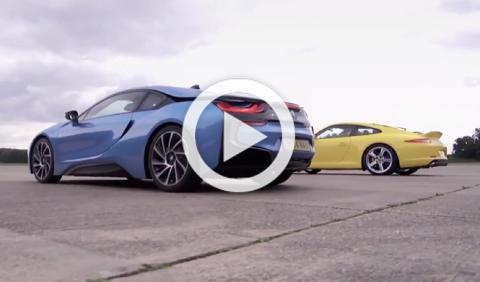'Drag Race': BMW i8 vs Porsche 911 Carrera S
