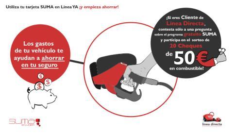 Gana 50 euros en combustible con Línea Directa y CEPSA