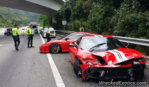 Accidente dos Ferraris