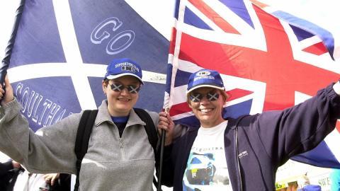 Banderas Escocia Gran Bretaña