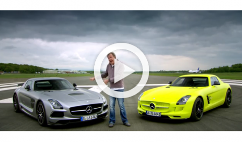 Top Gear enfrenta el Mercedes SLS eléctrico con el gasolina