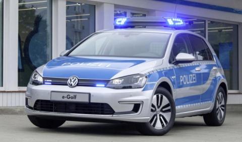 Los Volkswagen e-Golf de la Policía alemana