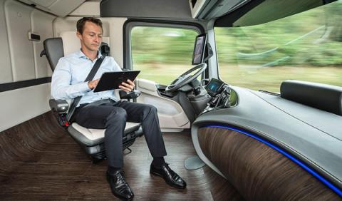 Mercedes Future Truck interior