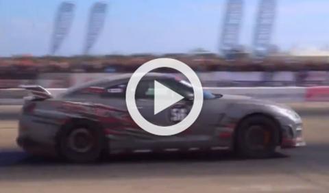 Accidente brutal de un Nissan GT-R en una prueba en Rusia