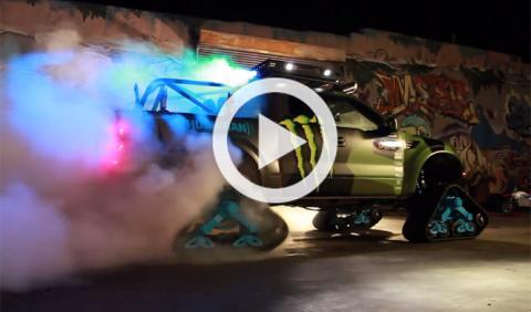 Vídeo: Ken Block quema 'rueda' con el RaptorTRAX