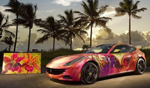 Duaiv convierte un Ferrari FF en un cuadro sobre ruedas