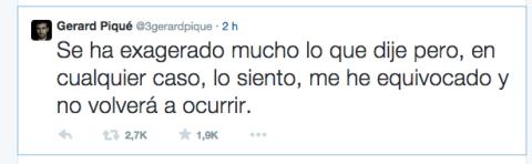 twitter pique pide disculpas