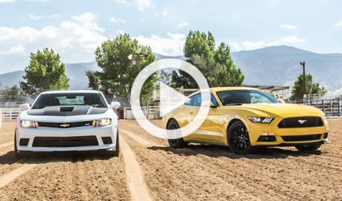 Vídeo: el nuevo Ford Mustang contra el Chevrolet Camaro