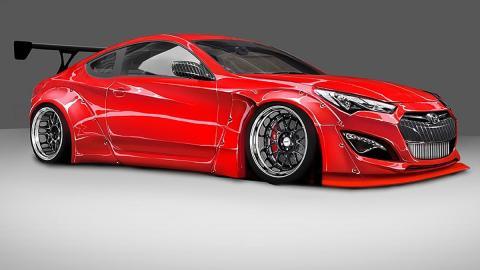 Hyundai Genesis Coupé de Tuner Blood Type Racing (BTR)