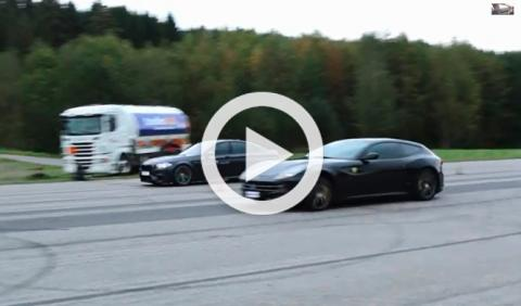 Vídeo: Drag race entre un BMW M5 F10 y un Ferrari FF