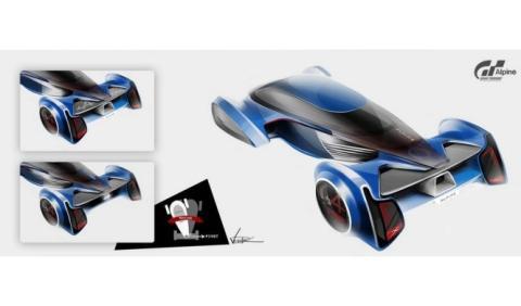 Desvelado el teaser del Alpine VisionGT concept, para GT 6