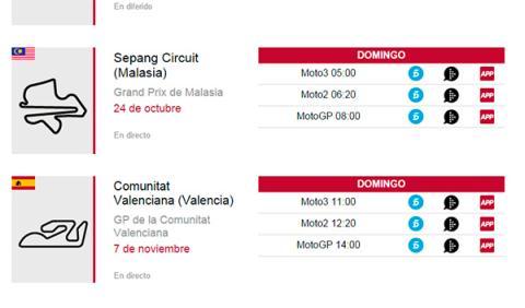 horarios Telecinco GP Malasia 2014